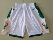 Milwaukee Bucks White Basketball Club Shorts