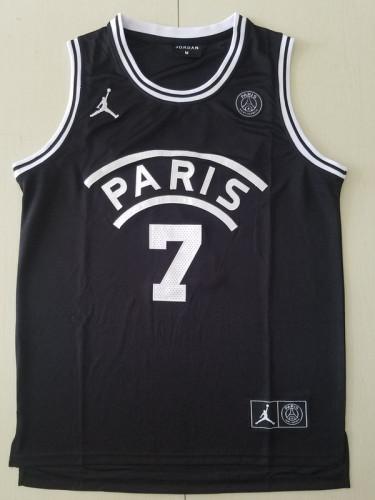 PSG Kylian Mbappé Black Basketball Jerseys