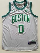 Boston Celtics Jayson Tatum 0 Gray City Edition Basketball Club Jerseys