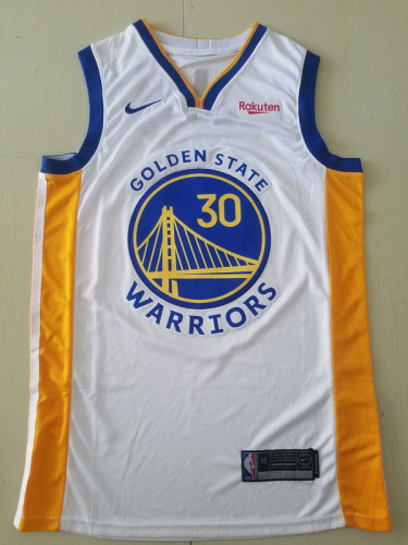 Golden State Warriors Stephen Curry 30 White Basketball Club Player Jerseys