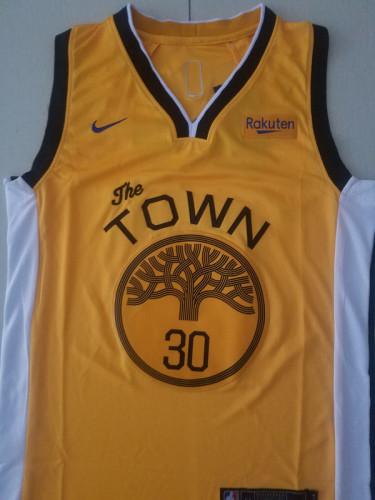 Golden State Warriors Stephen Curry 30 Yellow Basketball Club Player Jerseys