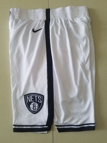 Brooklyn Nets White Basketball Club Shorts