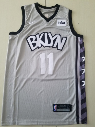 Brooklyn Nets Kyrie Irving 11 Gray Basketball Club Player Jerseys