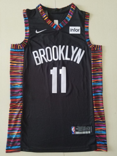 Brooklyn Nets Kyrie Irving 11 Black City Edition Basketball Club Jerseys