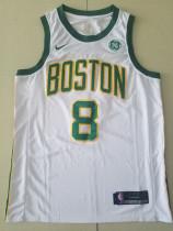 Boston Celtics Kemba Walker 8 White City Edition Basketball Club Jerseys