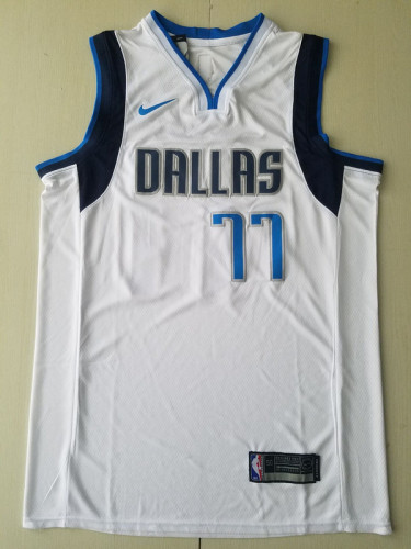 Dallas Mavericks Luka Dončić 77 White Basketball Club Player Jerseys