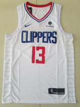 Los Angeles Clippers Paul George 13 White Basketball Club Player Jerseys