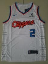 Los Angeles Clippers Kawhi Leonard 2 White Basketball Club Player Jerseys