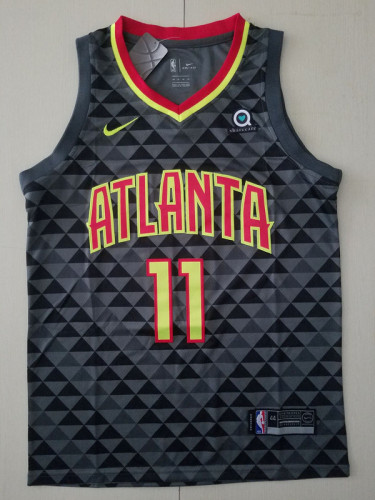 Trae Young11 Black Basketball Club Player Jerseys