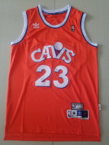 Cleveland Cavaliers LeBron James 23 Orange Throwback Classics Basketball Jerseys