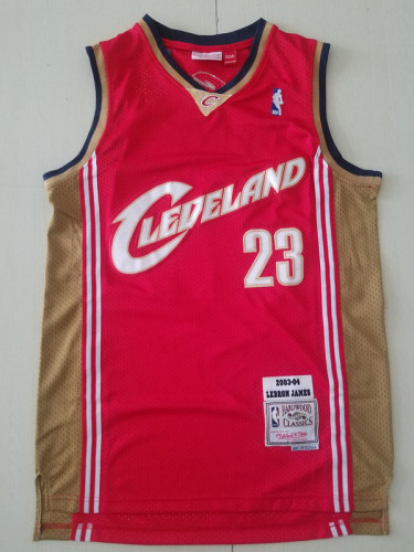 Cleveland Cavaliers LeBron James 23 Red 2003-04 Throwback Classics Basketball Jerseys