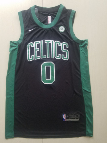 Boston Celtics Jayson Tatum 0 Black Basketball Club Player Jerseys