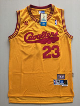 Cleveland Cavaliers LeBron James 23 Yellow Throwback Classics Basketball Jerseys