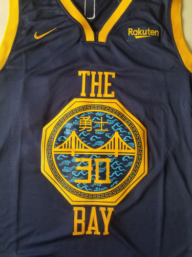 Golden State Warriors Stephen Curry 30 Black City Edition Basketball Club Jerseys