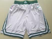 Boston Celtics White Basketball Club Shorts