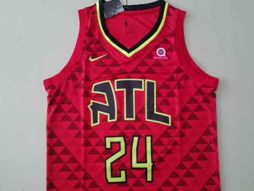 Atlanta Hawks Bruno Fernando 24 Red Basketball Club Player Jerseys