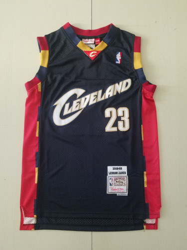 Cleveland Cavaliers LeBron James 23 Black 2008-09 Throwback Classics Basketball Jerseys