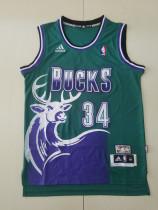 Milwaukee Bucks Ray Allen 34 Green Throwback Classics Basketball Jerseys