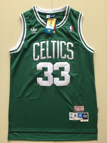 Boston Celtics Larry Bird 33 Green Throwback Classics Basketball Jerseys