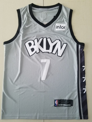 Brooklyn Nets Kevin Durant 7 Gray Basketball Club Player Jerseys