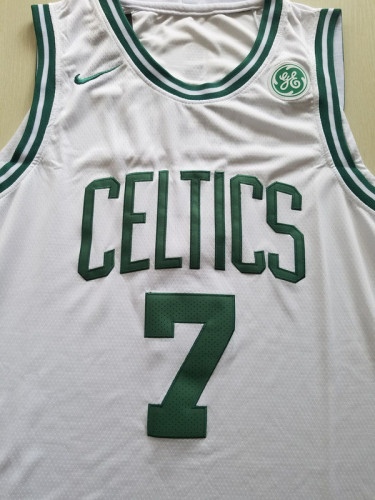 Boston Celtics Jaylen Brown 7 White Basketball Club Player Jerseys