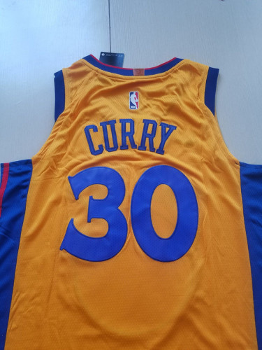 Golden State Warriors Stephen Curry 30 Yellow City Edition Basketball Club Jerseys
