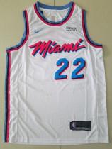 Miami Heat Jimmy Butler 22 White City Edition Basketball Club Jerseys