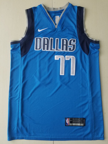 Dallas Mavericks Luka Dončić 77 Blue Basketball Club Player Jerseys