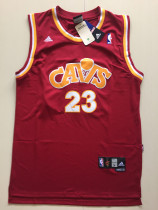 Cleveland Cavaliers LeBron James 23 Wine Red Classics Basketball Jerseys