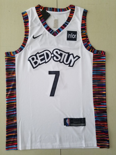 Brooklyn Nets Kevin Durant 7 White City Edition Basketball Club Jerseys