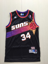Phoenix Suns Charles Barkley 34 Black Throwback Classics Basketball Jerseys