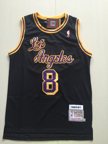 Kobe Bryant 8 Black 1996-97 Throwback Classics Basketball Jerseys