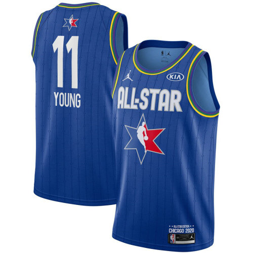 Men's Trae Young Blue 2020 All Star Game Jersey