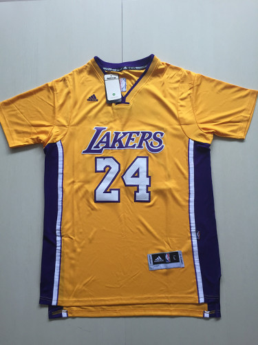 Kobe Bryant 24 Yellow Basketball Club Shorts