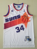 Phoenix Suns Charles Barkley 34 White Throwback Classics Basketball Jerseys