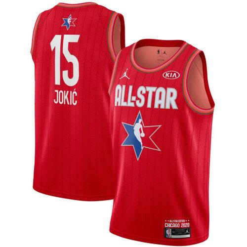 Men's Nikola Jokic Red 2020 All Star Game Jersey