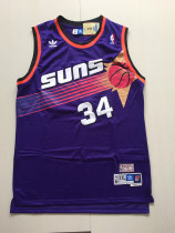 Phoenix Suns Charles Barkley 34 Purple Throwback Classics Basketball Jerseys