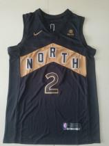 Toronto Raptors Kawhi Leonard 2 Black City Edition Basketball Club Jerseys
