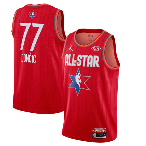Men's Luka Doncic Red 2020 All Star Game Jersey