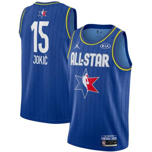 Men's Nikola Jokic Blue 2020 All Star Game Jersey