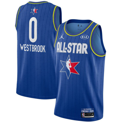 Men's Russell Westbrook Blue 2020 All Star Game Jersey