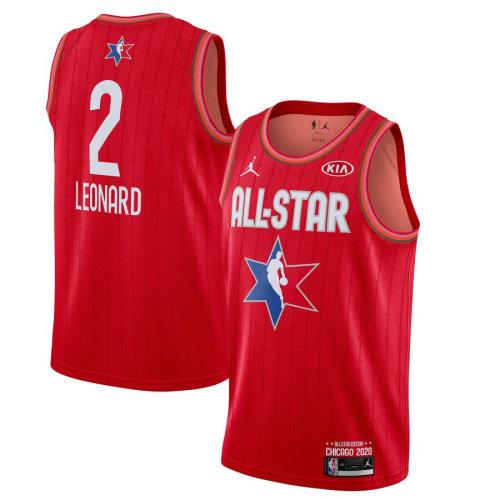 Men's Kawhi Leonard Red 2020 All Star Game Jersey