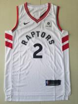Toronto Raptors Kawhi Leonard 2 White Retro Classics Basketball Jerseys