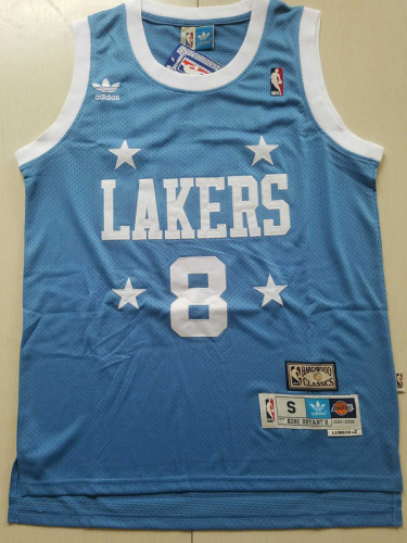 Kobe Bryant 8 Light Blue 2004-05 Throwback Classics Basketball Jerseys