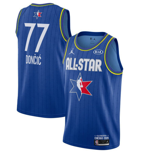 Men's Luka Doncic Blue 2020 All Star Game Jersey