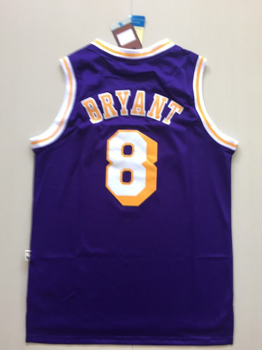 Kobe Bryant 8 Purple Throwback Classics Basketball Jerseys