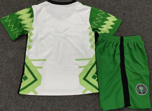 Nigeria 2020 Kids Home Soccer Jersey and Short Kit