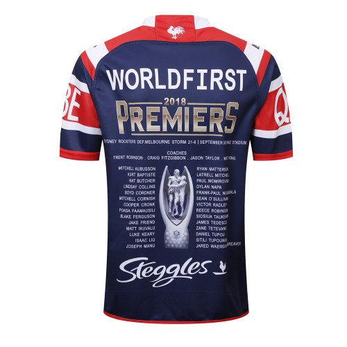 Sydney Roosters 2018 Men's Premiers Rugby Jersey