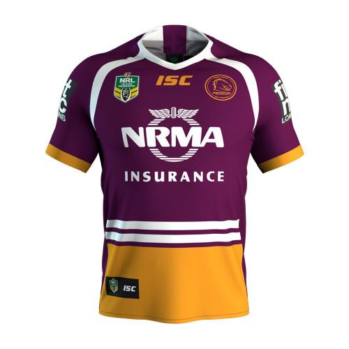 Brisbane Broncos 2018 Men's Home Rugby Jersey
