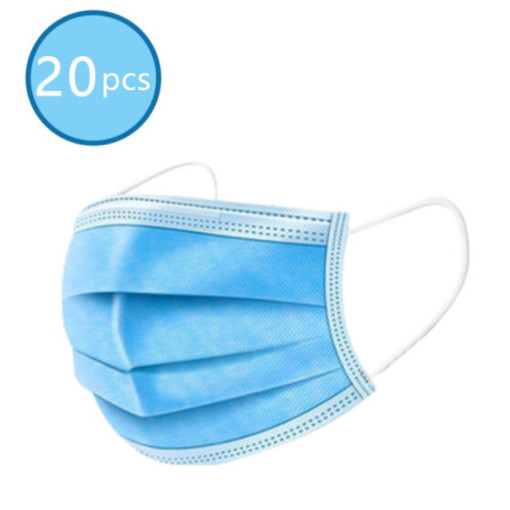 20pcs Disposable 3-Ply Face Mask Antiviral Medical Surgical Mask